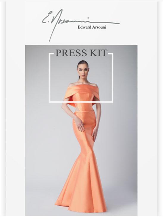 Edward Arsouni Couture Press Kit
